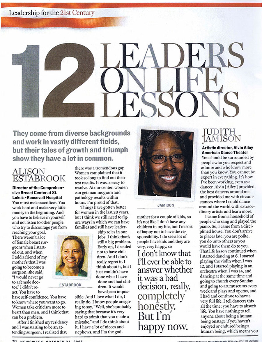 Newsweek-Women-Leadership-Lessons-2005-Page-1