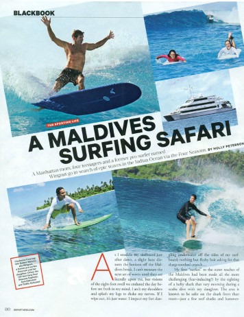A Maldives Surfing Safari